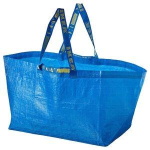 Set of 4 - FRAKTA Shopping bag, large, blue